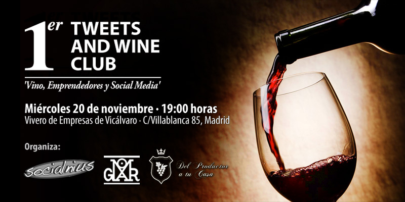 Este miércoles, Tweets and Wine Club
