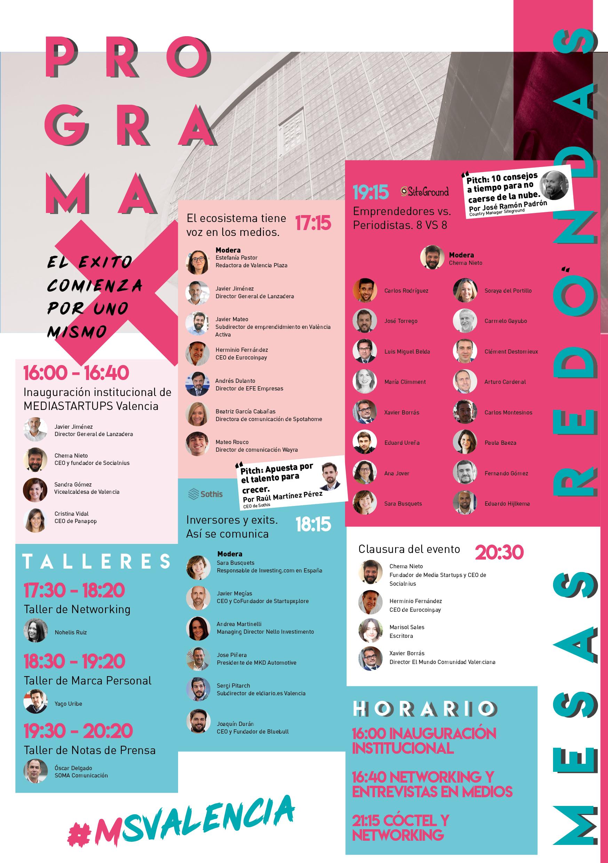 Media Startups Valencia, mañana 30 de octubre a las 4 de la tarde en Lanzadera