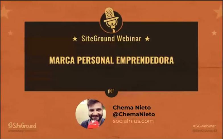 Aprende sobre Marca Personal Emprendedora con Chema Nieto
