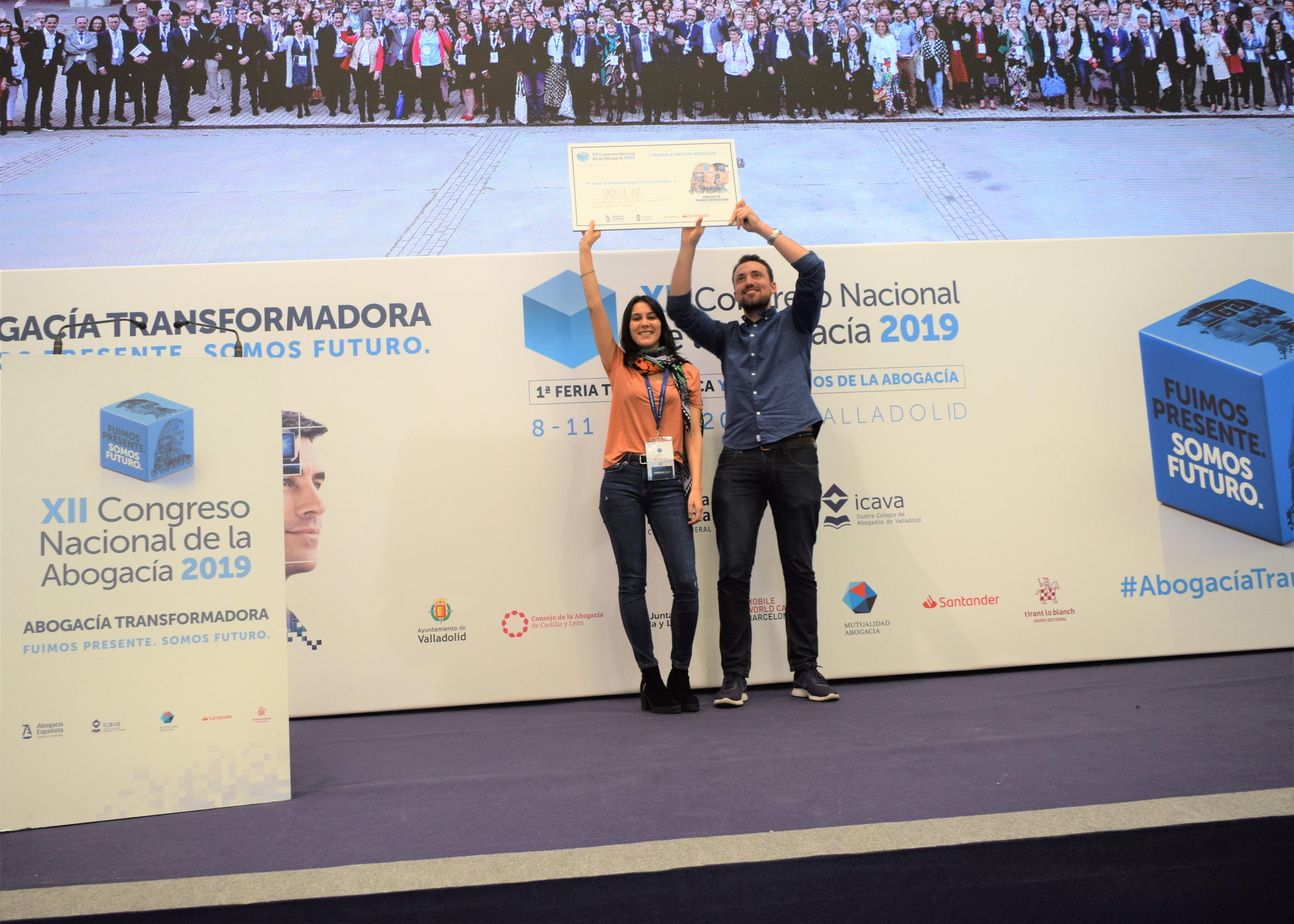 Emérita Legal, ganadora del I Premio Startups del XII Congreso Nacional de la Abogacía
