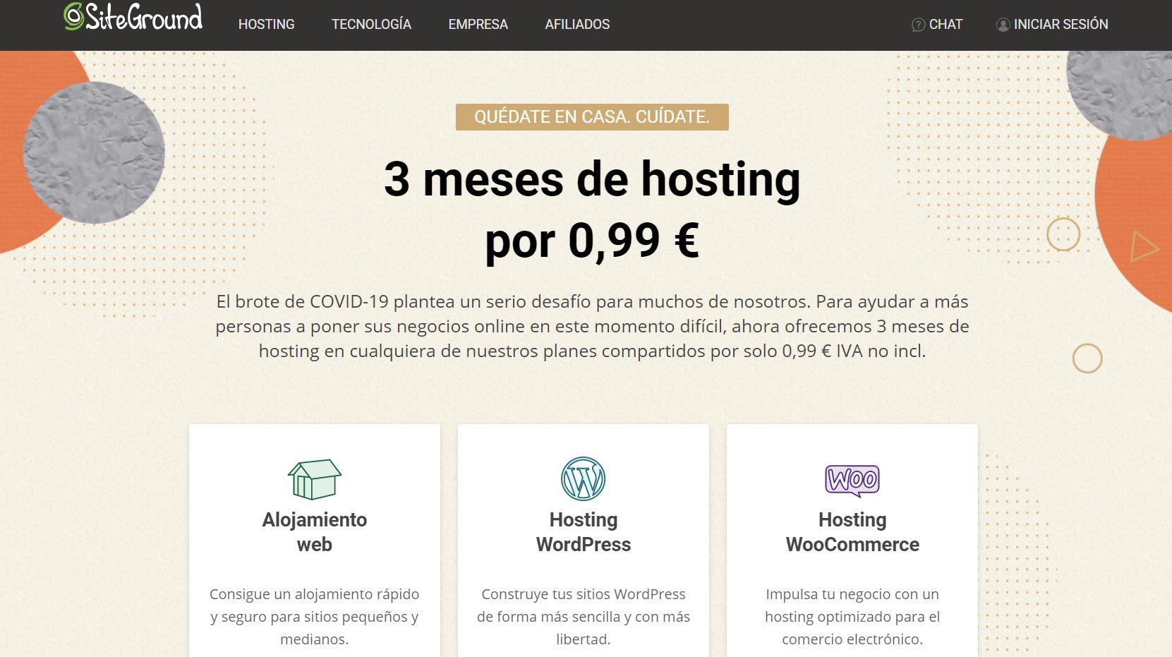 Ofetas hosting siteground