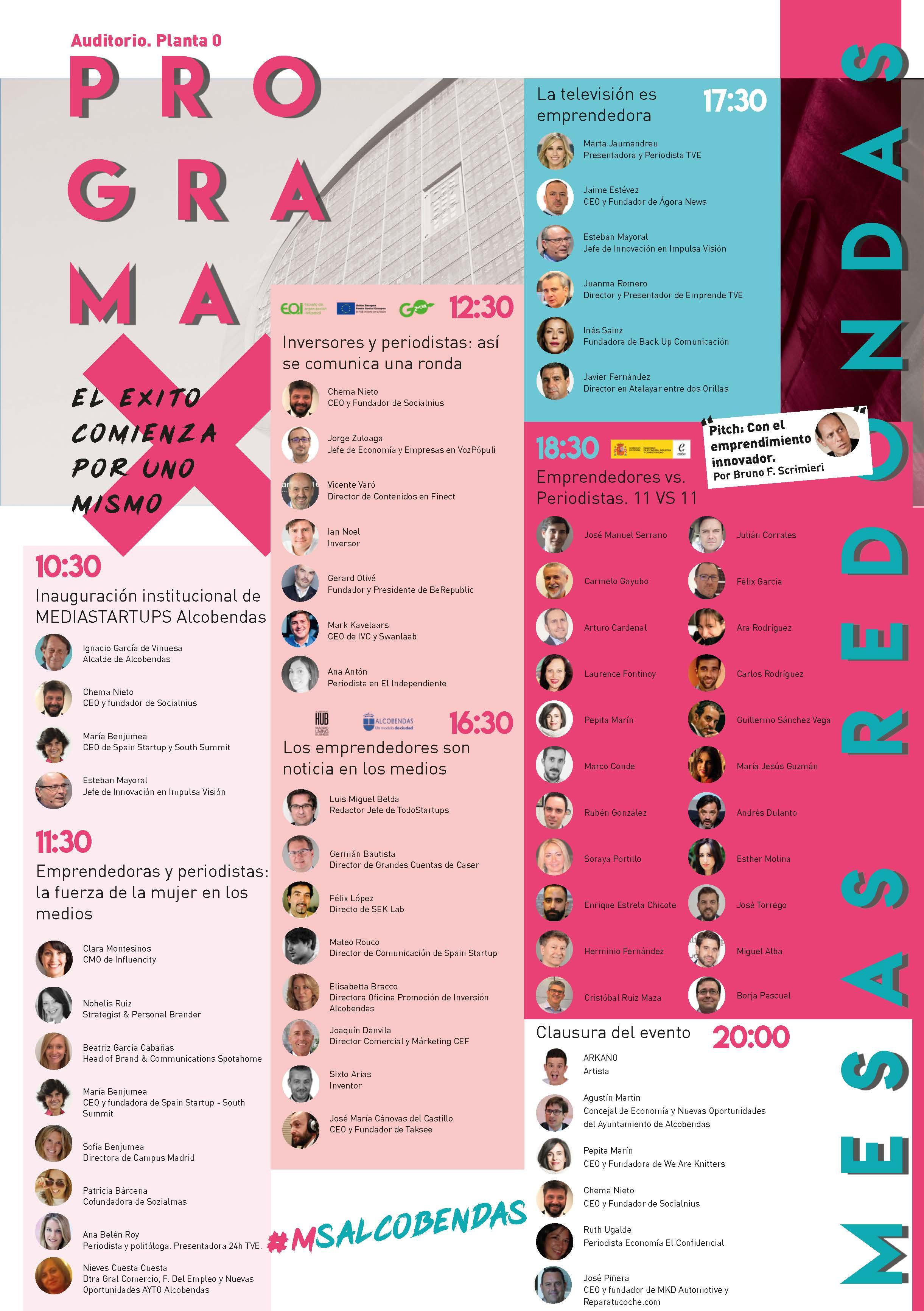 Más de 70 speakers, periodistas y emprendedores participan este jueves en Media Startups Alcobendas