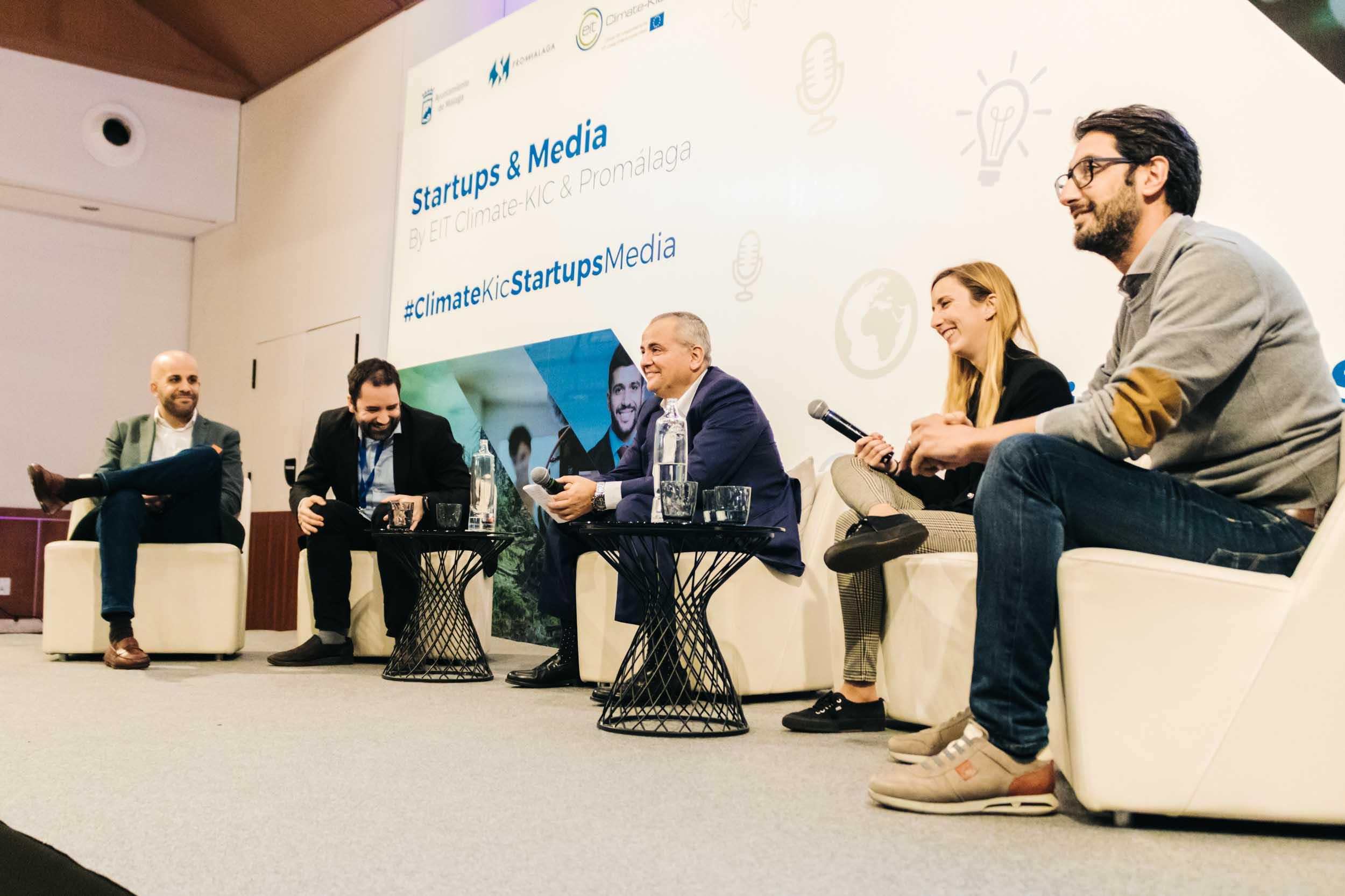 Éxito de asistencia en el evento Startups & Media by EIT Climate Kic & Promálaga